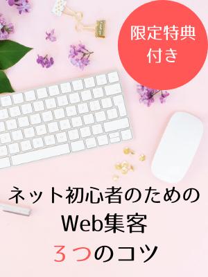 ネット初心者のためのWeb集客3つのコツ バナー